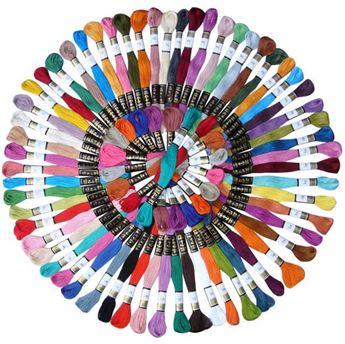 تصویر نخ گلدوزی در 50 رنگ